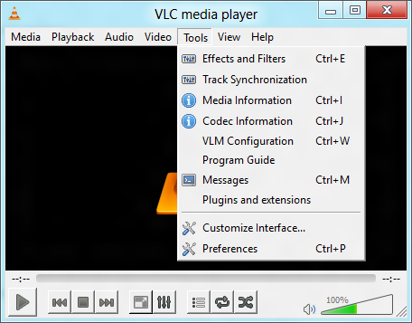 Vlc howtomake vlc the default player videolan wiki tools menu itemg ccuart Images