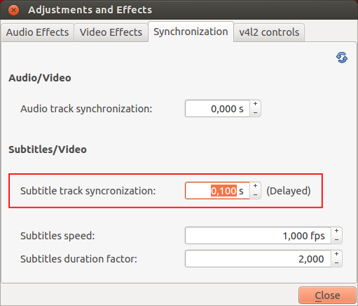 Vlc howtoadjust subtitle delay videolan wiki advance synchronisation ccuart Image collections
