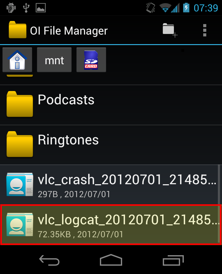 Android Report bugs - VideoLAN Wiki