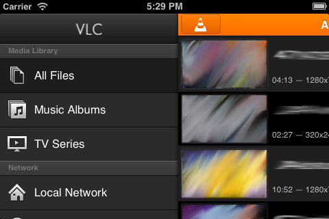 File:VLC for iOS smart library png - VideoLAN Wiki